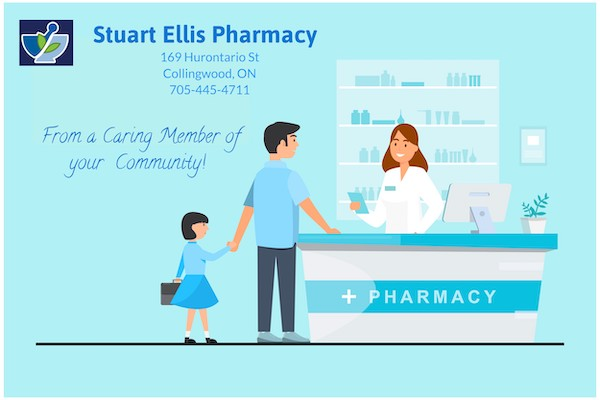 Child and Parent Talking to Pharmacist